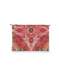 Cosmetic Flat Pouch Medium Moon Delight Red