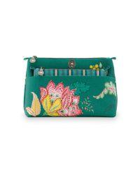 Cosmetic Bag Combi Jambo Flower Green