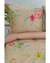 kussensloop-khaki-bloemen-kussenhoes-fleur-grandeur-pip-studio-2-perosonen-60x70-40x80-katoen