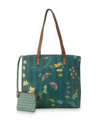 shopper-medium-fleur-grandeur-groen-32/47x18.5x31-cm-artificial-leather-1/12-pip-studio-51.273.240