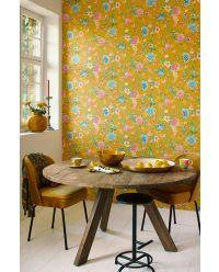 behang-vliesbehang-bloemen-geel-pip-studio-good-evening