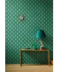 behang-vliesbehang-regendruppels-bloemen-groen-pip-studio-raindrops