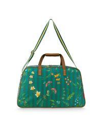 weekend-bag-medium-fleur-grandeur-groen-57x22x37-cm-nylon/satin-1/12-pip-studio-51.273.236