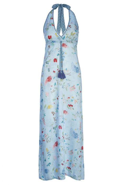 Maxi jurk Hummingbirds Blauw