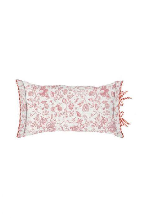 Kissen Buttons Up rechteckig rosa