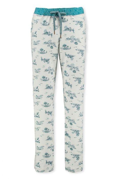 Trousers Flow De Fleur Aqua