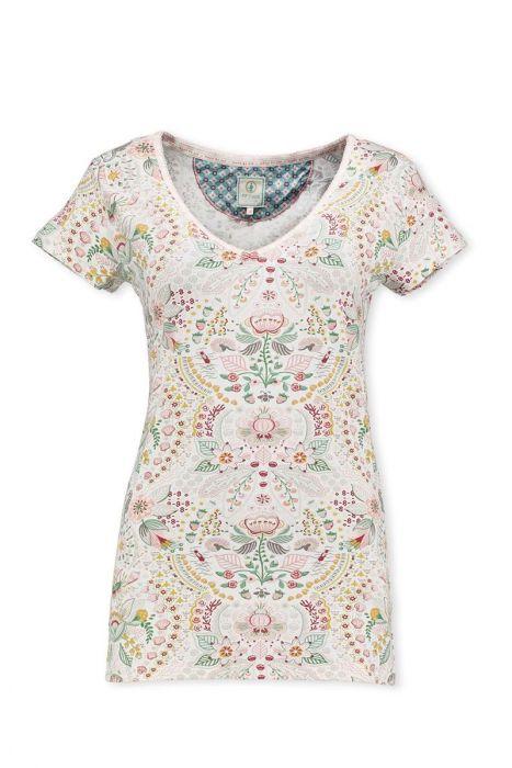 T-Shirt Sea Stitch Blauw