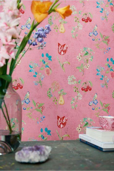 Cherry Pip Wallpaper Pink