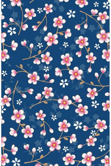 Cherry Blossom wallpaper dark blue