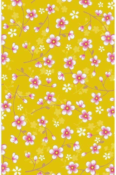 Cherry Blossom Wallpaper Yellow