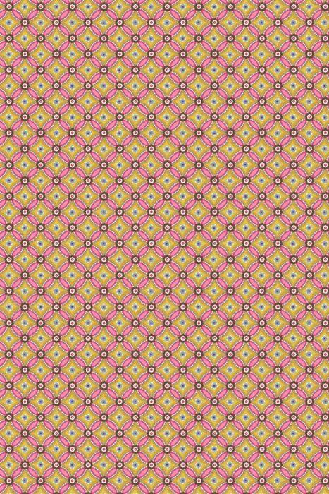 Geometric behang geel