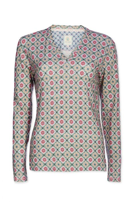 Top longsleeve Double Check pink