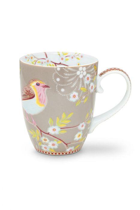 Floral Mug Large Early Bird Khaki