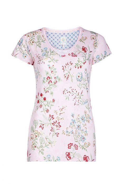 Short sleeve top Jaipur Flower pink