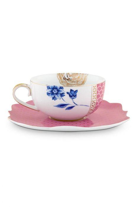 Royal Teacup Saucer Pink