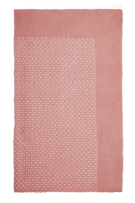 Blanket Cosy knitted pink