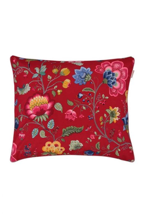 Pillowcase Floral Fantasy red