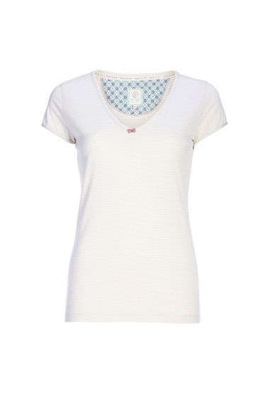 Short-sleeved top melee striper off white