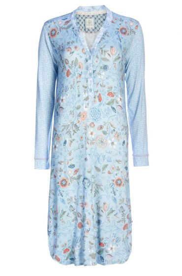Nightdress Split neck Spring to Life blue