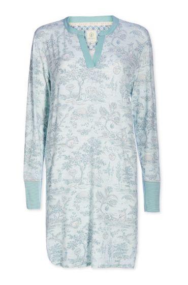 Nachthemd V-Ausschnitt Hide and Seek blau