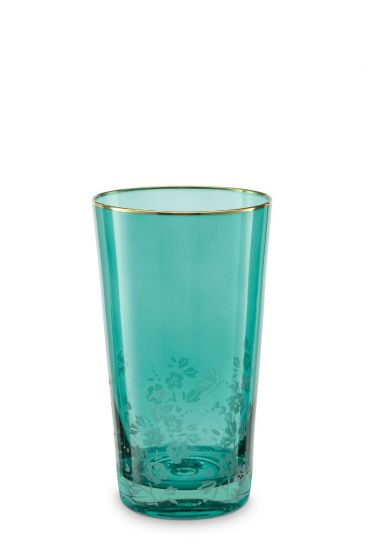 Blushing Birds Longdrink Glass Green