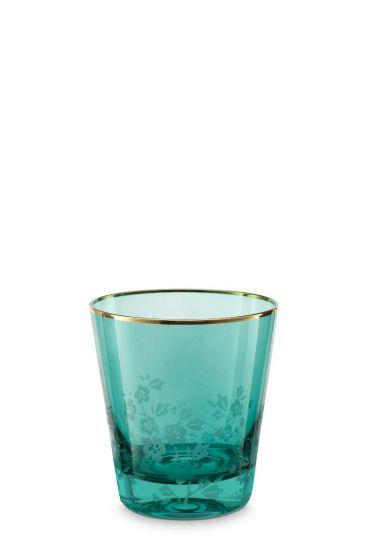 Blushing Birds Wasserglas Grün