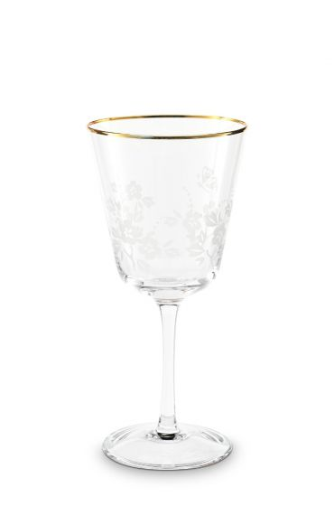 Blushing Birds Wine Glass