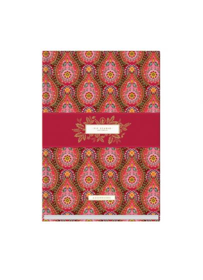 Address Book A5 Moon Delight Red