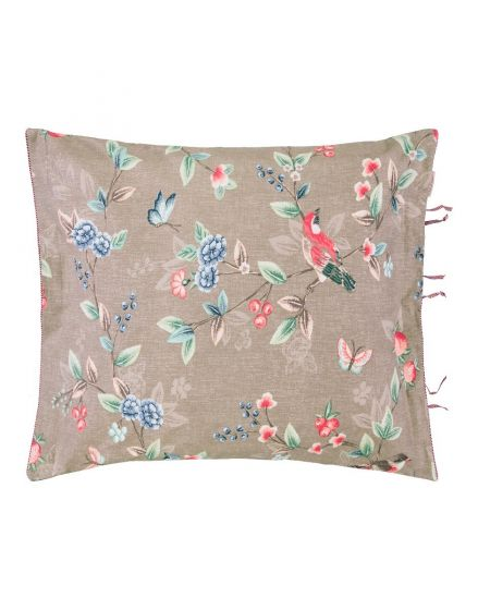 Pillowcase Birdy Brushed Twill Khaki