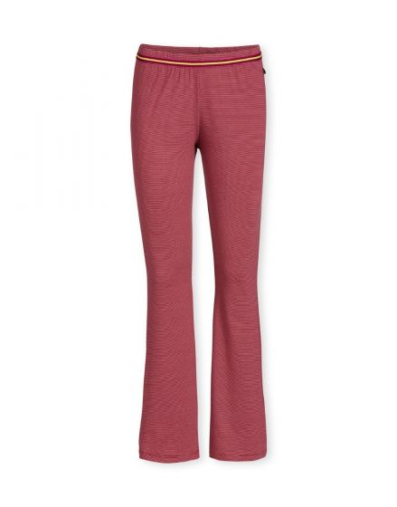 Trousers Long Shiny Stripe Red