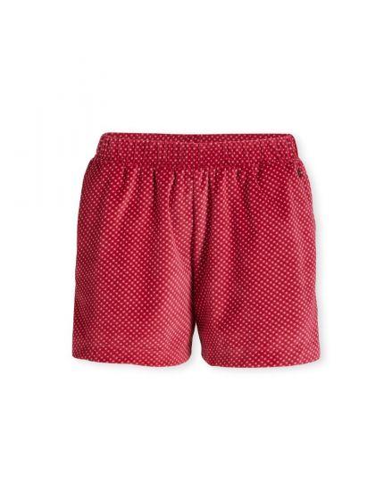 Trousers Short Twinkle Star Velvet Red