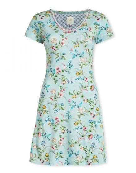 Nachthemd mit kurzen Ärmeln La Majorelle blau