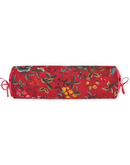 Neck roll Floral Delight Red