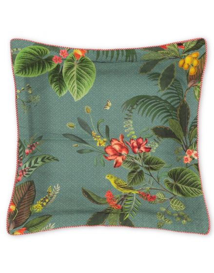 Cushion square Floris Blue