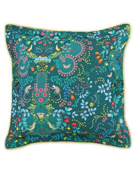 Cushion square Jungle Animals Dark Green