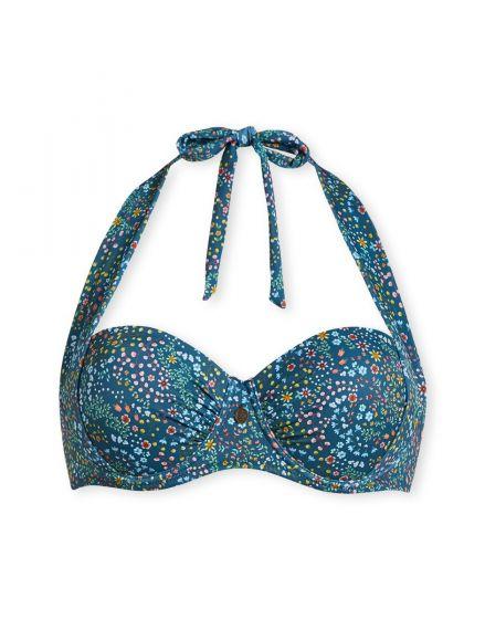 Bikinitop met beugel Beldi donkerblauw