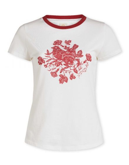 Top short sleeve Birdy White