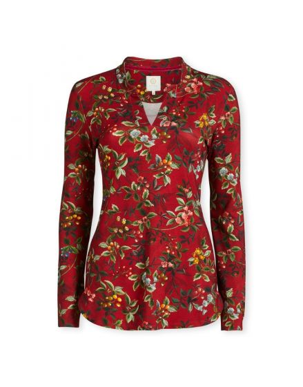 Top Long Sleeve Berry Delight