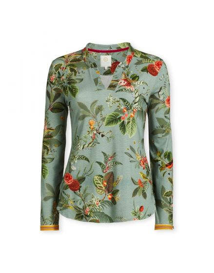 Top Long Sleeve Floris Blue