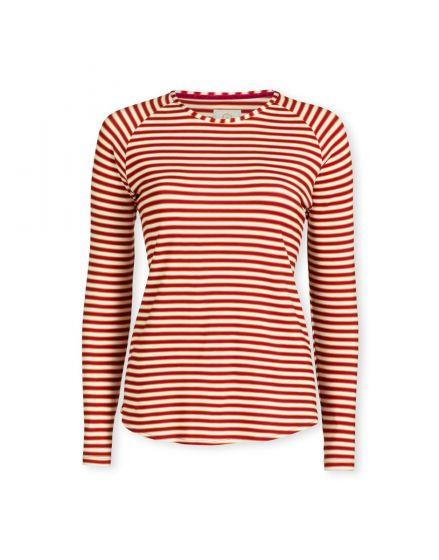 Top Long Sleeve Sleepy Stripe Red