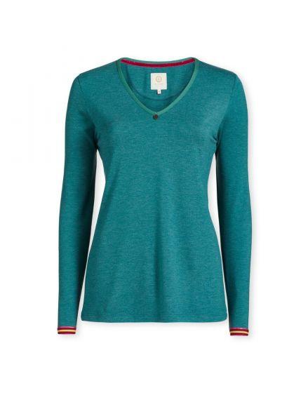 Top Long Sleeve Melee Green
