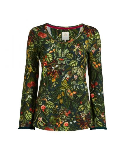 Top Long Sleeve Forest Foliage Green