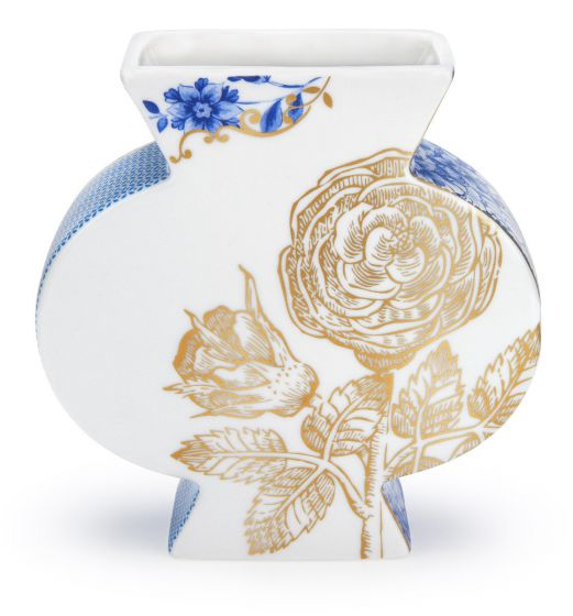 Royal White flat vase