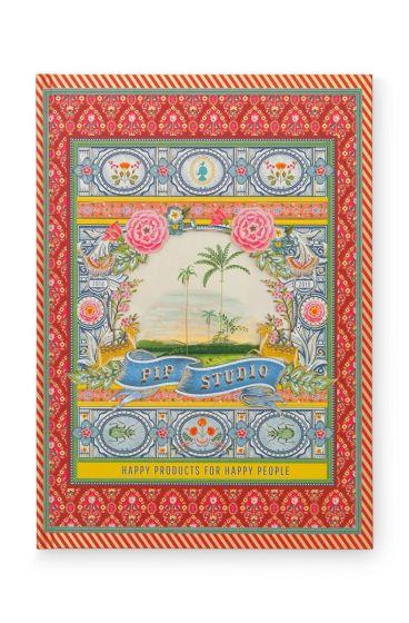 Notizbuch A4 Indian Festival liniert rot