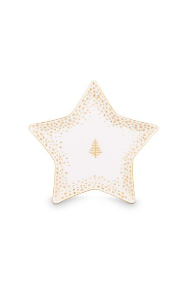 Royal Christmas petit four plate - 9.3 x 4.5 cm