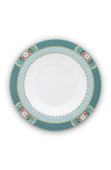 Blushing Birds Soup Plate blue 21.5 cm