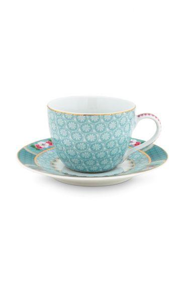 Blushing Birds Espresso Cup & Saucer blue
