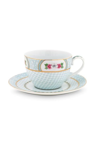 Blushing Birds Cappuccino Cup & Saucer white