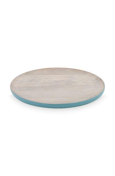 Blushing Birds Wooden Plate blue 25 cm