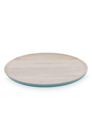 Blushing Birds Wooden Plate blue 30 cm